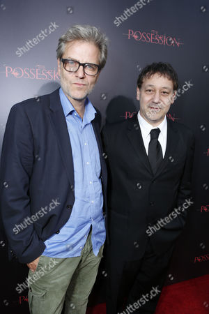 HOLLYWOOD, CA - AUGUST 28: Directors Ole Bornedal and Sam Raimi arrive at Lionsgate's 'The Possession' Los Angeles Premiere at ArcLight Cinemas on August 28, 2012 in Hollywood, California.
