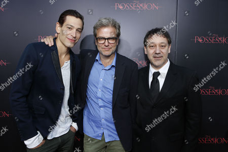 HOLLYWOOD, CA - AUGUST 28: Matisyahu, and Directors Ole Bornedal and Sam Raimi arrive at Lionsgate's 'The Possession' Los Angeles Premiere at ArcLight Cinemas on August 28, 2012 in Hollywood, California.