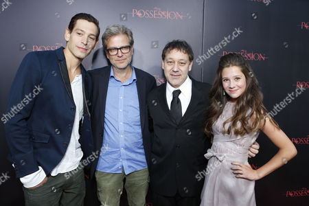 HOLLYWOOD, CA - AUGUST 28: Matisyahu, Directors Ole Bornedal and Sam Raimi, and Natasha Calis arrive at Lionsgate's 'The Possession' Los Angeles Premiere at ArcLight Cinemas on August 28, 2012 in Hollywood, California.
