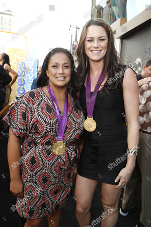 HOLLYWOOD, CA - AUGUST 15: Brenda Villa and Jennifer Steffens at Lionsgate World Premiere Of 'The Expendables 2' held at Grauman's Chinese Theatre on August 15, 2012 in Hollywood, California.