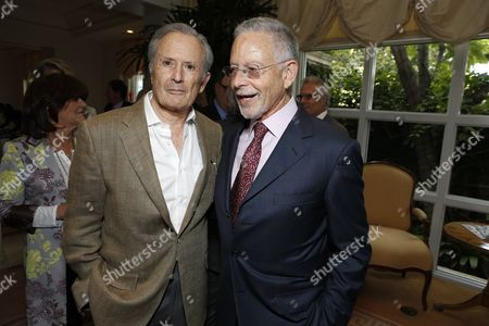 BEVERLY HILLS, CA - JULY 18: Bert Fields and Richard Posell at The Hollywood Reporter Power Lawyers Breakfast 2012 on July 18, 20012 in Beverly Hills, California.
