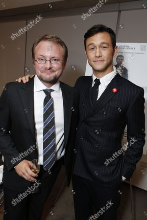 TORONTO, ON - SEPTEMBER 06: Director/Writer Rian Johnson and Actor/Executive Producer Joseph Gordon-Levitt at TriStar Pictures 'Looper' Premiere during 2012 Toronto International Film Festival held at Roy Thomson Hall on September 6, 2012 in Toronto, Canada.