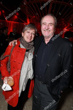 LOS ANGELES, CA - FEBRUARY 24: Wes Craven and Iya Labunka at The Hollywood Reporter Nominees' Night celebrating the Ten Best Pictures Nominees on February 24, 2011 at the Getty House in Los Angeles, California.