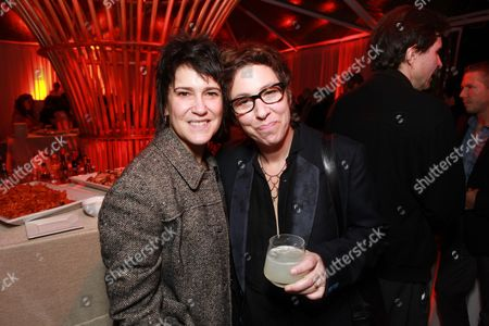 LOS ANGELES, CA - FEBRUARY 24: Wendy Melvoin and Director Lisa Cholodenko at The Hollywood Reporter Nominees' Night celebrating the Ten Best Pictures Nominees on February 24, 2011 at the Getty House in Los Angeles, California.
