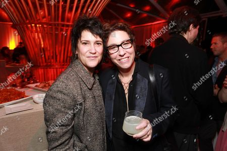 LOS ANGELES, CA - FEBRUARY 24: Wendy Melvoin and Director Lisa Cholodenko at The Hollywood Reporter Nominees' Night celebrating the Ten Best Pictures Nominees at The Getty House on February 24, 2011 in Los Angeles, California. Wendy Melvoin Lisa Cholodenko