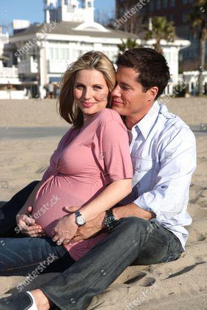 Stock Picture of SANTA MONICA, CA-JANUARY 17: Andrew and Ivana Firestone in Santa Monica, CA on January 17, 2009.