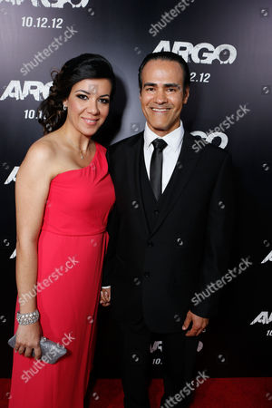 BEVERLY HILLS, CA - OCTOBER 04: Mahsa Hadjiaghai and Ali Saam at the Los Angeles Premiere Of Warner Bros. Pictures' 'Argo' held at AMPAS Samuel Goldwyn Theater on October 4, 2012 in Beverly Hills, California. Mahsa Hadjiaghai Ali Saam