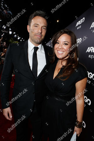BEVERLY HILLS, CA - OCTOBER 04: Director/Producer Ben Affleck and Executive Producer Chay Carter at the Los Angeles Premiere Of Warner Bros. Pictures' 'Argo' held at AMPAS Samuel Goldwyn Theater on October 4, 2012 in Beverly Hills, California. Chay Carter Ben Affleck