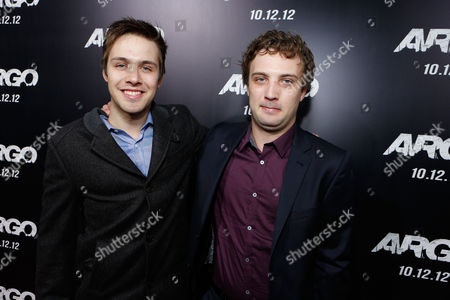 Stock Photo of BEVERLY HILLS, CA - OCTOBER 04: Matthew Fahey and Jozef Fahey at the Los Angeles Premiere Of Warner Bros. Pictures' 'Argo' held at AMPAS Samuel Goldwyn Theater on October 4, 2012 in Beverly Hills, California. Jozef Fahey Matthew Fahey
