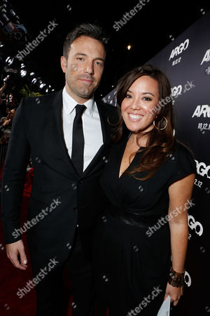 Stock Photo of BEVERLY HILLS, CA - OCTOBER 04: Director/Producer Ben Affleck and Executive Producer Chay Carter at the Los Angeles Premiere Of Warner Bros. Pictures' 'Argo' held at AMPAS Samuel Goldwyn Theater on October 4, 2012 in Beverly Hills, California. Chay Carter Ben Affleck