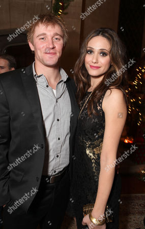 LOS ANGELES, CA - DECEMBER 01: (EXCLUSIVE COVERAGE) Tyler Jacob Moore of 'Shameless' and Emmy Rossum of 'Shameless' at Showtime's 6th Annual Holiday Soiree held at The Quincy Estate on December 1, 2011 in Los Angeles, California. Tyler Jacob Moore Emmy Rossum