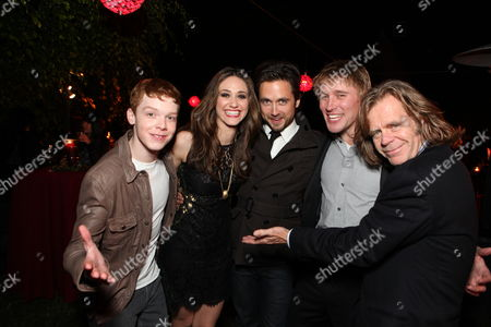 ***EXCLUSIVE COVERAGE*** LOS ANGELES, CA - DECEMBER 1: 'Shameless' cast members Cameron Monaghan, Emmy Rossum, Justin Chatwin, Tyler Jacob Moore and William H. Macy at Showtime's 6th Annual Holiday Soiree held at The Quincy Estate on December 1, 2011 in Los Angeles, California.