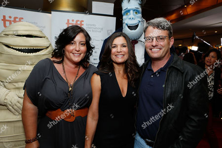 TORONTO, ON - SEPTEMBER 08: Sony Pictures Animation Michelle Raimo Kouyate, Producer Michelle Murdocca, and Sony Pictures Animation's Bob Osher at Columbia Pictures 'Hotel Transylvania' Premiere At 2012 Toronto International Film Festival held at The Princess Whales Theatre on September 8, 2012 in Toronto, Canada. Michelle Raimo Kouyate Michelle Murdocca Bob Osher