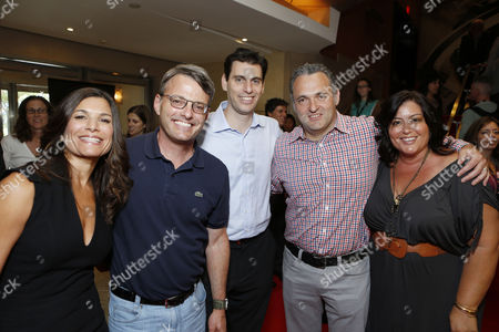 TORONTO, ON - SEPTEMBER 08: Producer Michelle Murdocca, Sony Pictures Animation's Bob Osher, Sony's Marc Weinstock, Director Genndy Tartakovsky and Sony Pictures Animation Michelle Raimo Kouyate at Columbia Pictures 'Hotel Transylvania' Premiere At 2012 Toronto International Film Festival held at The Princess Whales Theatre on September 8, 2012 in Toronto, Canada.