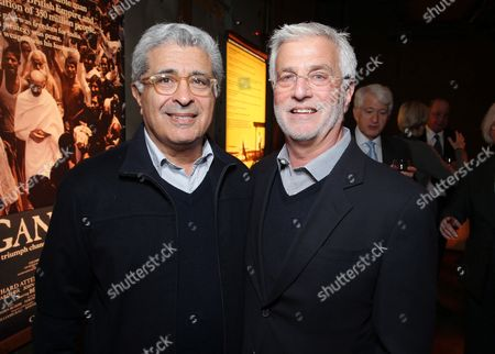 Terry Semel and Lionsgate's Rob Friedman at Producer Jake Eberts Tribute hosted by Participant Media held at UCLA Film School on February 20, 2013 in Westwood, California.