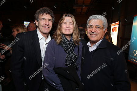 Disney's Alan Horn, Cindy Horn and Terry Semel at Producer Jake Eberts Tribute hosted by Participant Media held at UCLA Film School on February 20, 2013 in Westwood, California.