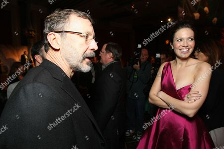 Stock Image of HOLLYWOOD - NOVEMBER 14: **EXCLUSIVE** President, Walt Disney and Pixar Animation Studios- Ed Catmull and Mandy Moore at Disney's 'TANGLED' World Premiere at the El Capitan Theatre on November 14, 2010 in Hollywood, California.