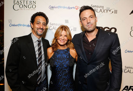 BEVERLY HILLS, CA - OCTOBER 11: Producer Grant Heslov, Founder/President of Children Mending Hearts Lysa Heslov and Director/Producer Ben Affleck at Warner Bros. 'ARGO' Charity Screening Presented By Samsung Galaxy SIII To Benefit Eastern Congo Initiative And Children Mending Hearts held at The Writers Guild Theatre on October 11, 2012 in Beverly Hills, California. Grant Heslov Lysa Heslov Ben Affleck