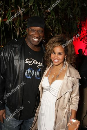 Stock Image of SANTA MONICA, CA - DECEMBER 12: Michael Clark Duncan and girlfriend Vanessa at Bay Films' Holiday Party hosted by Dewars on December 12, 2008 in Santa Monica, California.