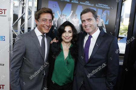 JUNE 24, 2012 - LOS ANGELES, CA: Film Independent co-president Sean McManus, Warner Bros.' Sue Kroll and Film Independent co-president Josh Welsh at Warner Bros. Premiere of 'Magic Mike' at Regal Cinemas L.A. Live on June 24, 2012 in Los Angeles, California.