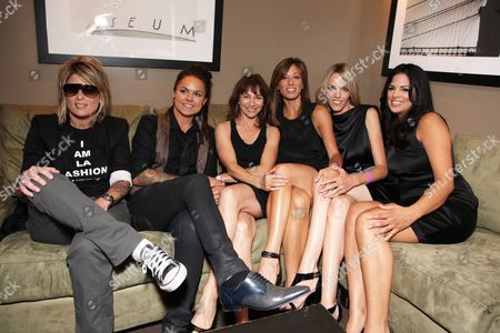WEST HOLLYWOOD, CA - JUNE 15: Mikey Koffman, Whitney Mixter, Exec. Producer Ilene Chaiken, Jill Sloane Goldstein, Nikki Weiss and Rose Garcia at the Premiere of Showtime's New Reality Series 'The Real L Word' on June 15, 2010 at East/West Lounge in West Hollywood, California.