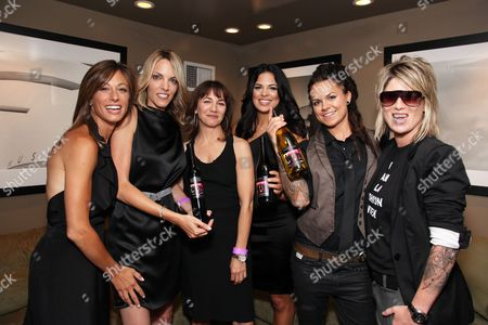 WEST HOLLYWOOD, CA - JUNE 15: Jill Sloane Goldstein, Nikki Weiss, Exec. Producer Ilene Chaiken, Rose Garcia, Whitney Mixter and Mikey Koffman at the Premiere of Showtime's New Reality Series 'The Real L Word' on June 15, 2010 at East/West Lounge in West Hollywood, California.