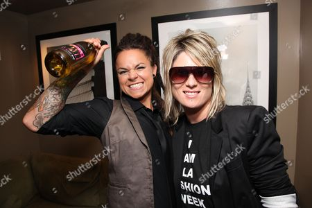 WEST HOLLYWOOD, CA - JUNE 15: Whitney Mixter and Mikey Koffman at the Premiere of Showtime's New Reality Series 'The Real L Word' on June 15, 2010 at East/West Lounge in West Hollywood, California.