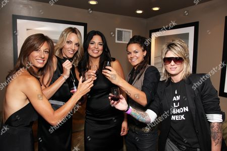 WEST HOLLYWOOD, CA - JUNE 15: Jill Sloane Goldstein, Nikki Weiss, Rose Garcia, Whitney Mixter and Mikey Koffman at the Premiere of Showtime's New Reality Series 'The Real L Word' on June 15, 2010 at East/West Lounge in West Hollywood, California.