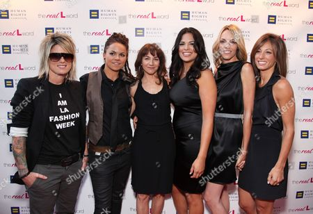 WEST HOLLYWOOD, CA - JUNE 15: Mikey Koffman, Whitney Mixter, Exec. Producer Ilene Chaiken, Rose Garcia, Nikki Weiss and Jill Sloane Goldstein at the Premiere of Showtime's New Reality Series 'The Real L Word' on June 15, 2010 at East/West Lounge in West Hollywood, California.