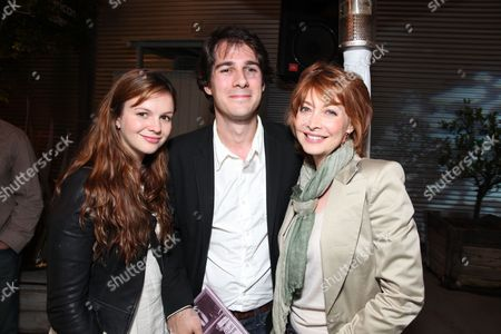Stock Image of SANTA MONICA, CA - JUNE 10: Amber Tamblin, Joel Stein and Sharon Lawrence at Grey Goose partners With The Young Literati's 3rd Annual Toast on June 10, 2010 at Santa Monica Museum of Art in Santa Monica, California.