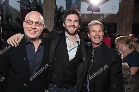 HOLLYWOOD, CA - JUNE 17: Producer Akiva Goldsman, Wes Bentley and Producer Andrew Lazar at Warner Bros. Pictures Los Angeles Screening of 'Jonah Hex' on June 17, 2010 at the Cinerama Dome Theatre in Hollywood, California.