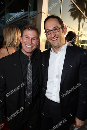 HOLLYWOOD, CA - JUNE 17: Producer Andrew Lazar and Warner's Greg Silverman at Warner Bros. Pictures Los Angeles Screening of 'Jonah Hex' on June 17, 2010 at the Cinerama Dome Theatre in Hollywood, California.
