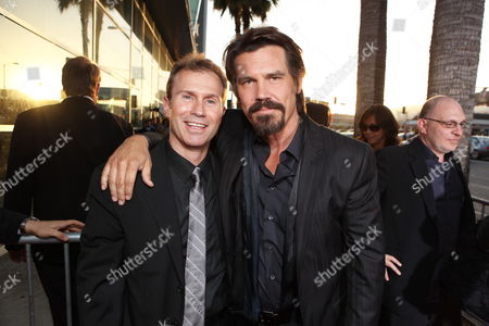 HOLLYWOOD, CA - JUNE 17: Producer Andrew Lazar and Josh Brolin at Warner Bros. Pictures Los Angeles Screening of 'Jonah Hex' on June 17, 2010 at the Cinerama Dome Theatre in Hollywood, California.