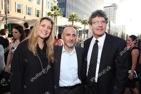 HOLLYWOOD, CA - JULY 13: Cindy Horn, Warner's Jeff Robinov and Warner's Alan Horn at the Los Angeles Premiere of Warner Bros. Pictures' 'INCEPTION' on July 13, 2010 at the Graumans' Chinese Theatre in Hollywood, California.