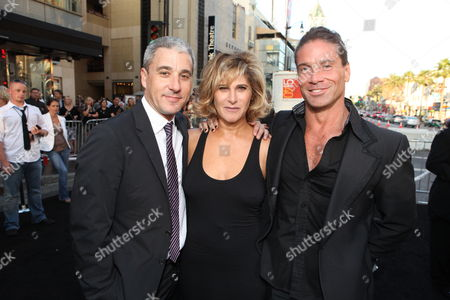 HOLLYWOOD, CA - JULY 19: Sony's Matt Tolmach, Sony's Amy Pascal and Writer Kurt Wimmer at the Premiere of Columbia Pictures' 'SALT' on July 19, 2010 at the Graumans' Chinese Theatre in Hollywood, California.