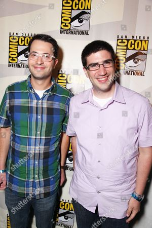 SAN DIEGO, CA - JULY 22: Screenwriter Edward Kitsis and Screenwriter Adam Horowitz at Disney's 'TRON: Legacy' at 2010 Comic-Con on July 22, 2010 at the San Diego Convention Center in San Diego, California.