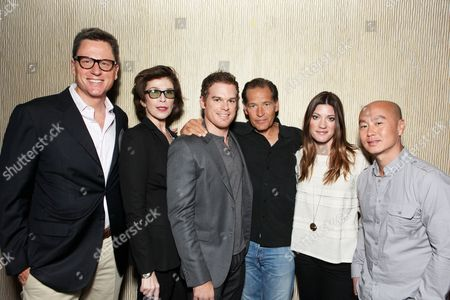 BEVERLY HILLS, CA - JULY 29: **EXCLUSIVE** Exec. Producer John Goldwyn, Exec. Producer Sara Colleton, Michael C. Hall, James Remar, Jennifer Carpenter and C.S. Lee at Showtime's 2010 Summer TCA Panels on July 29, 2010 at The Beverly Hilton Hotel in Beverly Hills, California.