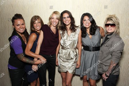 BEVERLY HILLS, CA - JULY 29: Whitney Mixter, Jill Sloane Goldstein, Nikki Weiss, Tracy Ryerson, Rose Garcia and Mikey Koffman at Showtime's 2010 Summer TCA Panels on July 29, 2010 at The Beverly Hilton Hotel in Beverly Hills, California.