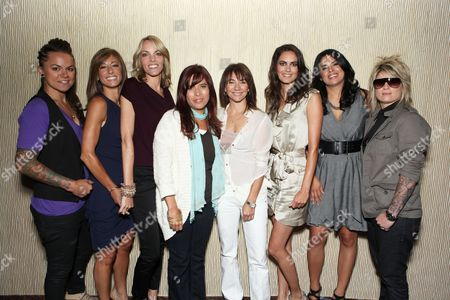 BEVERLY HILLS, CA - JULY 29: Whitney Mixter, Jill Sloane Goldstein, Nikki Weiss, Jane Lipsitz, Exec. Producer Ilene Chaiken, Tracy Ryerson, Rose Garcia and Mikey Koffman at Showtime's 2010 Summer TCA Panels on July 29, 2010 at The Beverly Hilton Hotel in Beverly Hills, California.