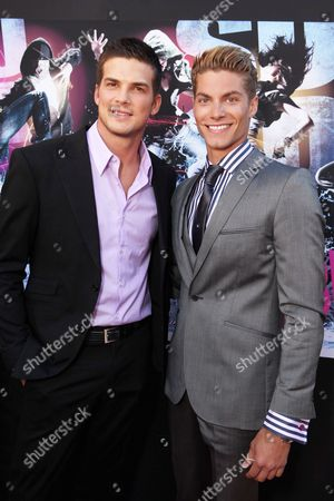 HOLLYWOOD, CA - AUGUST 02: Rick Malambri and Joe Slaughter at Touchstone Pictures' 'STEP UP 3D' World Premiere on August 02, 2010 at the El Capitan Theatre in Hollywood, California.
