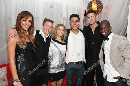 HOLLYWOOD, CA - AUGUST 02: **EXCLUSIVE** Sharni Vinson, Kent Boyd, Lauren Froderman, Robert Roldan, Rick Malambri and Adechike Torbertat Touchstone Pictures' 'STEP UP 3D' World Premiere on August 02, 2010 at the El Capitan Theatre in Hollywood, California.