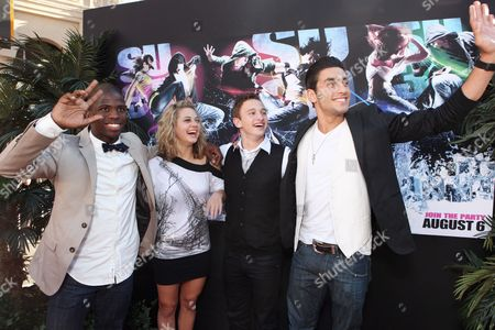 HOLLYWOOD, CA - AUGUST 02: Adechike Torbert, Lauren Froderman, Kent Boyd and Robert Roldan at Touchstone Pictures' 'STEP UP 3D' World Premiere on August 02, 2010 at the El Capitan Theatre in Hollywood, California.