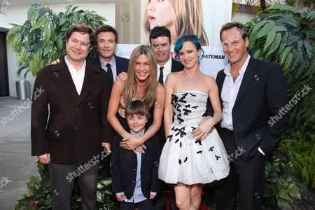 HOLLYWOOD, CA - AUGUST 16: Director Josh Gordon, Jason Bateman, Jennifer Aniston, Thomas Robinson, Director Will Speck, Juliette Lewis and Patrick Wilson at the World Premiere of Miramax's 'The Switch' on August 16, 2010 at the Arclight Theatre in Hollywood, California.