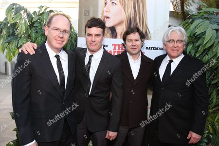 HOLLYWOOD, CA - AUGUST 16:Producer Albert Berger, Director Will Speck, Director Josh Gordon and Producer Ron Yerxa at the World Premiere of Miramax's 'The Switch' on August 16, 2010 at the Arclight Theatre in Hollywood, California.