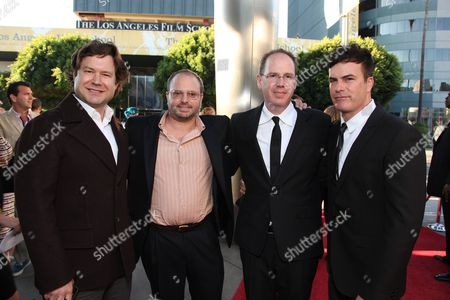 HOLLYWOOD, CA - AUGUST 16: Director Josh Gordon, Screenwriter Allan Loeb, Producer Albert Berger and Director Will Speck at the World Premiere of Miramax's 'The Switch' on August 16, 2010 at the Arclight Theatre in Hollywood, California.
