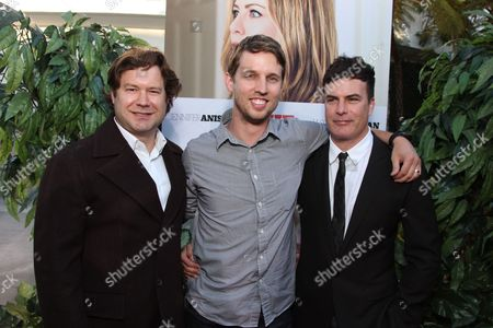 HOLLYWOOD, CA - AUGUST 16: Director Josh Gordon, Jon Heder and Director Will Speck at the World Premiere of Miramax's 'The Switch' on August 16, 2010 at the Arclight Theatre in Hollywood, California.