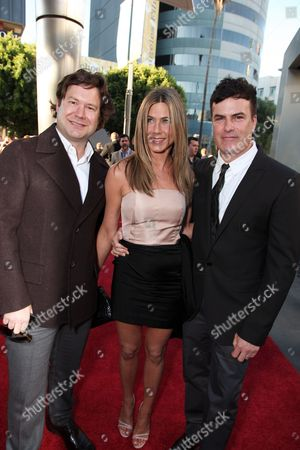 HOLLYWOOD, CA - AUGUST 16: Director Josh Gordon, Jennifer Aniston and Director Will Speck at the World Premiere of Miramax's 'The Switch' on August 16, 2010 at the Arclight Theatre in Hollywood, California.