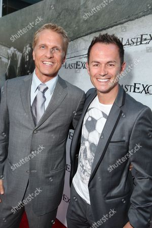HOLLYWOOD, CA - AUGUST 24: Patrick Fabian and Greg Ellis at the Los Angeles Special Screening of Lionsgate's 'The Last Exorcism' on August 24, 2010 at Arclight Hollywood in Hollywood, California.