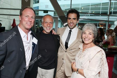 HOLLYWOOD, CA - AUGUST 24: Louis Herthum, Sheldon Roth, Producer Eli Roth and Cora Roth at the Los Angeles Special Screening of Lionsgate's 'The Last Exorcism' on August 24, 2010 at Arclight Hollywood in Hollywood, California.