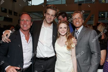 HOLLYWOOD, CA - AUGUST 24: Louis Herthum, Director Daniel Stamm, Ashley Bell and Patrick Fabian at the Los Angeles Special Screening of Lionsgate's 'The Last Exorcism' on August 24, 2010 at Arclight Hollywood in Hollywood, California.
